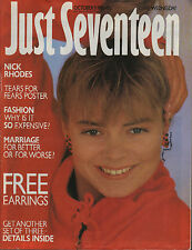 Just Seventeen Magazine 9 October 1985   Nick Rhodes   Tears For Fears