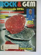 New listing 1990 October Vintage Rock & and Gem Magazine Rockhound Gold Hunters