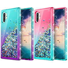 For Samsung Galaxy Note 10 Liquid Glitter Bling Diamond Quicksand TPU Case Cover