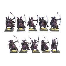 Warhammer Fantasy Ejército Wood Elf Glade Guardia X10 pintado y basado