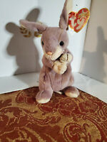 🐰Ty Beanie Babies SPRINGY The Lavender Bunny Rabbit w/Tags (8 inch) 2/29/2000