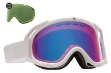 NEW Electric Rig White Rose Blue Mirror ski snowboard goggles + lens Msrp$160