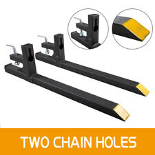 Clamp on Pallet Forks Loader Bucket Tractor Chain Forklift without Connectors