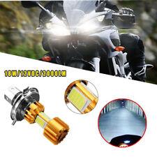 Motorcycle Cool H4 White Headlight COB 6000K LED Hi-Lo Beam Light Lamp Bulbs