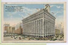 VINTAGE 1920 POSTCARD ~ BOSTON STORE, CHICAGO, ILLINOIS~ BUSIEST CORNER IN WORLD