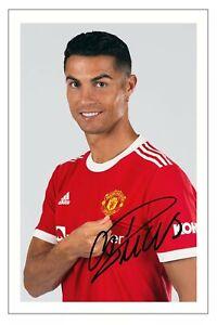 CRISTIANO RONALDO Signed Autograph PHOTO Signature Gift Print MANCHESTER UNITED