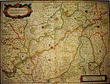 Historische Landkarte Köln, Mayen, Monreal, Burglahr,Siegburg, Radevormwald 1658