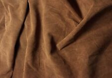 """SUEDE TOFFEE BROWN Lambskin Leather Hide Piece #39 7x7"""""""