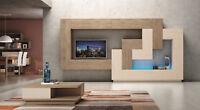 Premium Design Wohnwand Best - XXL Stauraum mit Softclose - große Farbauswahl