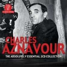 Charles Aznavour Absolutely Essential 3cd Collection Triple CD Europe Big 3