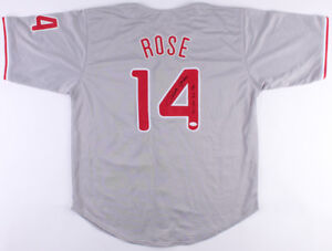 "Pete Rose Signed Phillies Jersey Inscribed ""4256""(JSA) 1980 World Series Champs"