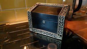 Fine Ebony/Coromandel Stationary Box By HOWELL JAMES & CO. LONDON
