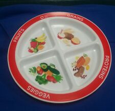Super Healthy Kids Divided Kids Portion Plate Plastic/