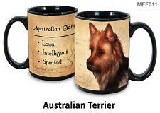Australian Terrier Dog Mug, 15 oz Black Coffee Mug, My Faithful Friend