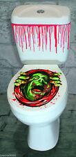 Halloween toilette Siège & faux sang Ensemble d'AUTOCOLLANT effrayant Horreur
