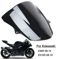 Windshield WindScreen Double Bubble For Kawasaki NINJA ZX6R 09-14 ZX10R 08-10 US