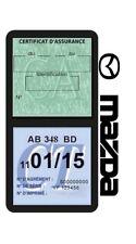 Porte vignette assurance MAZDA double étui adhésif voiture Stickers auto rétro
