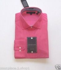 "Tommy Hilfiger Mens ""Bright Pink""  Regular Fit Pink Dress Shirt"