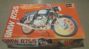 Revell 1:8 WUNDERBIKE BMW R75/5 Plastic Motorcycle Model Kit H-1552 1973