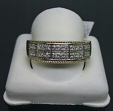 10K Men's Yellow Gold Diamond Band With 2 Rows of 0.25CTW