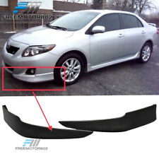 Fit 09-10 Toyota Corolla PP Polypropylene Front Bumper Lip OE S Factory Style