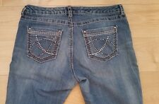 Women's Nine West Jeans Size 10 Bling on Pockets Straight Date night Fit