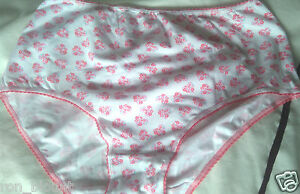 M&S PINK WHITE FLORAL HI-RISE COTTON BRIEF FOR ELASTANE COMFORT & FIT SIZES 8-16