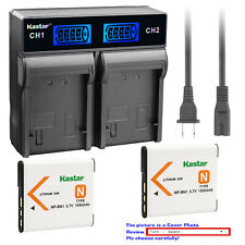 Kastar Battery LCD Rapid Charger for Sony NP-BN1 NPBN1 Sony Cyber-shot DSC-W350