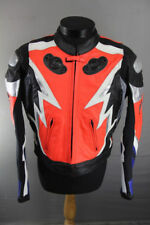 FRANK THOMAS LEATHER RACING/ SPORTS BIKER JACKET WITH BACK PROTECTOR 42 INCH