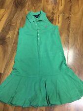 Ralph Lauren Chicas Vestido Plisado Talla M (8-10)