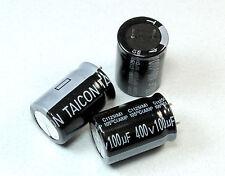 4pcs Taicon 100uF 400v Radial Electrolytic Capacitor 18mm X 25mm