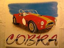 "Cobra Red Racing Stripe 14"" X 12"" T Shirt Iron On Heat Thermal Transfer"