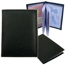 Ausweisetui Ausweishülle Kreditkartenetui Dokumentenhülle Leder  A12140 Schwarz