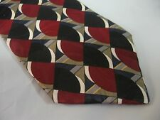 Mens Red Black Blue Tie Necktie VAN HEUSEN ~ FREE US SHIP (6324)