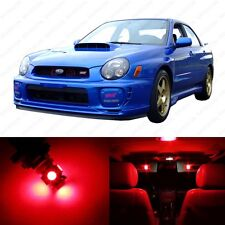 5 x Red LED Interior Lights Package For 2002 - 2003 Subaru Impreza WRX STI