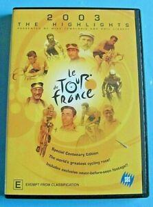 LE TOUR DE FRANCE 2003 The Highlights DVD Region 4
