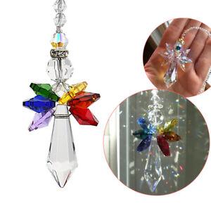 Rainbow Angel Crystal Beads Suncatcher Pendants Window Hanging Decor Ornament