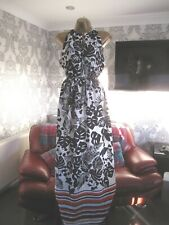 H&M SLEEVELESS MAXI DRESS SIZE UK 16