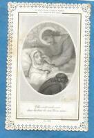CANIVET DENTELLE  LACE HOLY CARD MORT DE LA SAINTE VIERGE MARY S DEATH