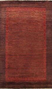 Contemporary Striped Gabbeh Oriental Area Rug Wool Hand-Made Modern Carpet 7x10