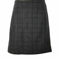 COUNTRY ROAD A-Line Skirt Charcoal Gray Grey Wool Women Office Ladies Work Wear