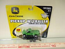 John Deere Dually Pickup with black machine trailer by Ertl 1/64th Scale