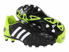 ADIDAS 11nova TRX FG, SOCCER CLEATS BLACK, WHITE AND GREEN, SIZE 11