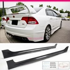 Fits 06-11 Honda Civic 4Dr Mu RR Style PP Side Skirts Bodykit Spoiler