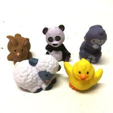 Lot 5PCS Fisher-Price Little People Zoo Animals Chick Rabbit Panda Figure Gift