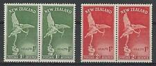 New Zealand 1947 Sc# B30-31 set Statue of Eros pairs MNH