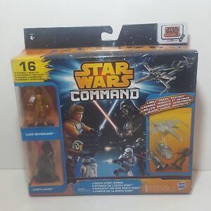 Star Wars Command Death Star Strike 16 toy figures and vehicles! Luke + Darth