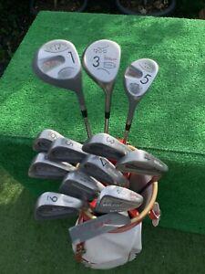 Men's RH Wilson X31 Wilson 1200 Full Golf Club Set Irons Woods Bag ⛳️⛳️⛳️