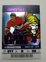 2019-20 UpperDeck Credentials Erik Brannstrom Debut Ticket Access Purple 5/10 SP