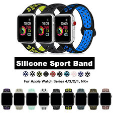 Silicone Sport iWatch Band Strap for Apple Watch Series 5/4/3/2/1 38/42/40/44mm
